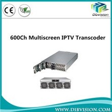 600 CH h.264 iptv encoder/ transcoder offer high quality IOS android iptv solution