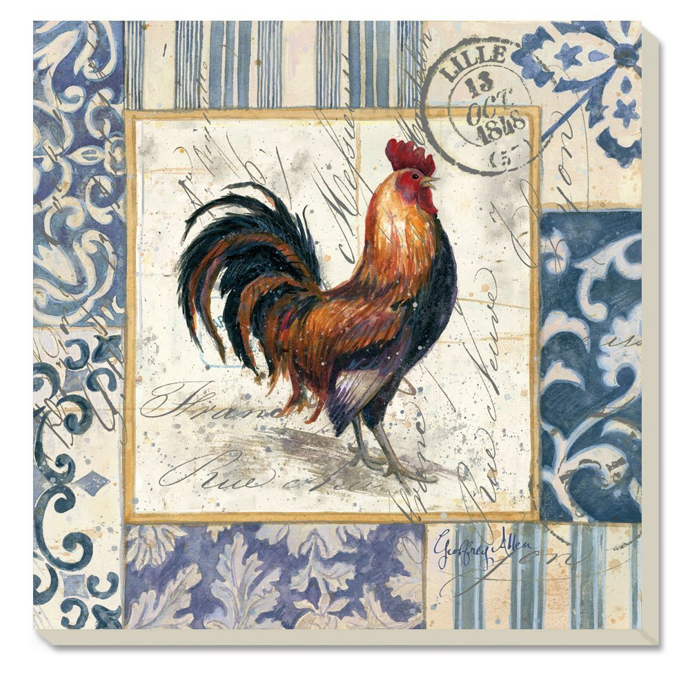 "CounterArt Absorbent Coasters, ""French Rooster"", Set of 4"