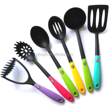 Colorful best selling nylon kitchen utensils kitchen for Colorful kitchen tools