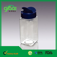 Eco friendly food graded pet empty plastic clear large spice jar