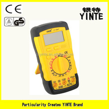 China factory New plastic digital LCD,Max .reading 1999 multimeter with Overload protection,safety class CAT 600V