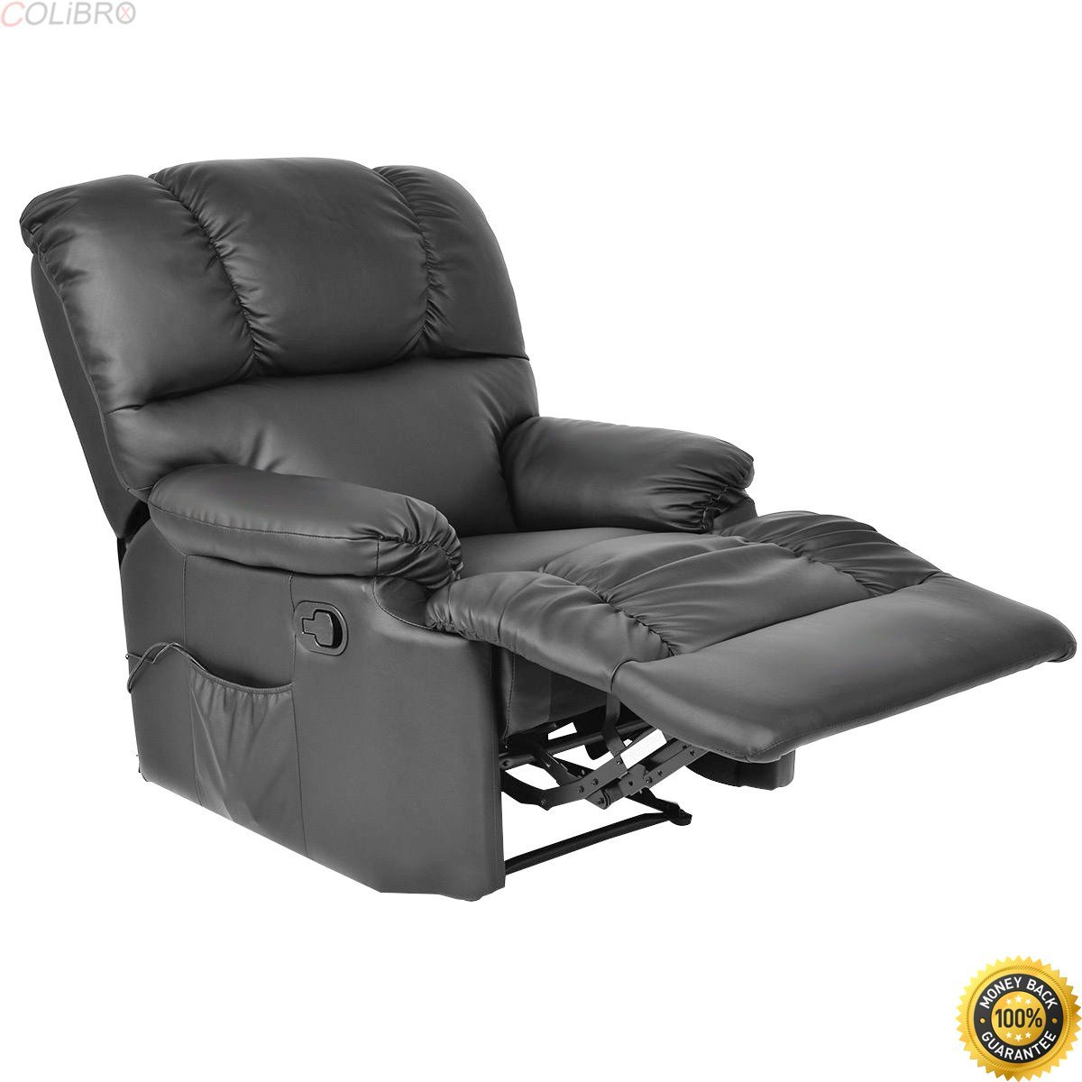 Colibrox Recliner Mage Sofa Chair Deluxe Ergonomic Lounge Couch Heated W Control Black