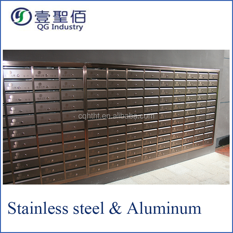 2017 hot new products wall mounted stainless steel mailbox