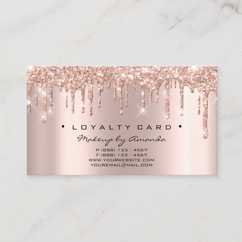 2019 Fashion Wholesale Odm Custom Logo Rose Gold Foil Lashes Brows Beauty Loyalty <strong>Cards</strong>