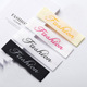 low minimum Fashion garments enfold woven clothing labels