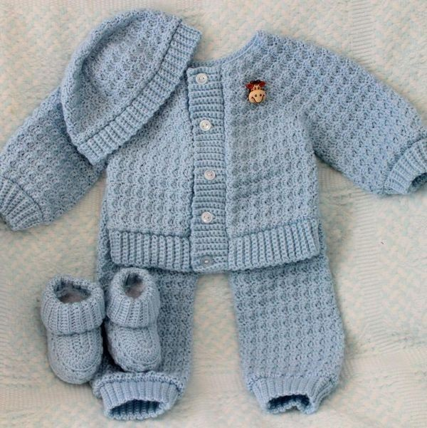 Clothes Set Hand Made Crochet Baby Pattern Sweater Buy