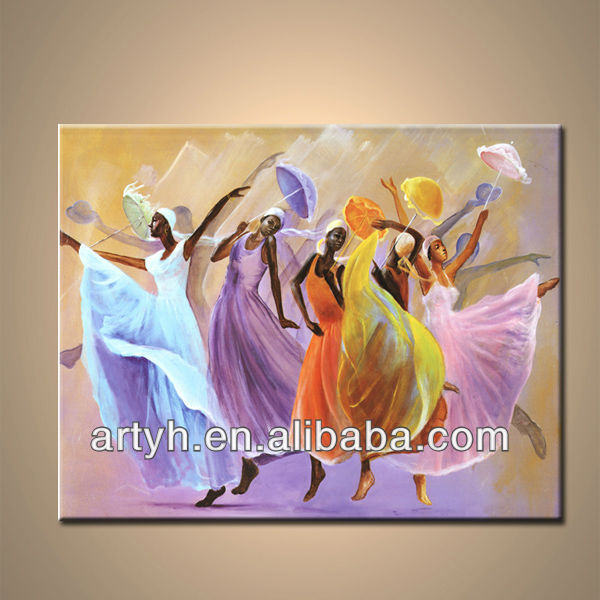 Modern Indian Women Oil Painting