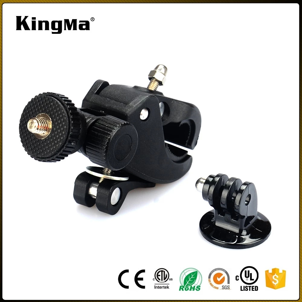 KingMa Hot Selling Action Camera Accessories Black Bike Mount With Adjustable Tripod Adaptor For Gopros For Xiaomi For SJCAM