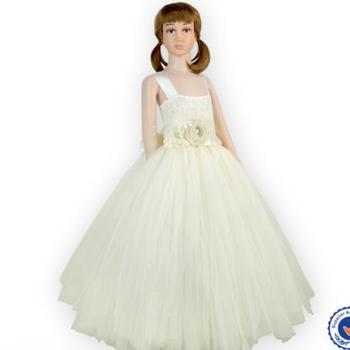 Newest Girls Floor Length Pattern Wedding Gowns Fancy Kids Casual ...