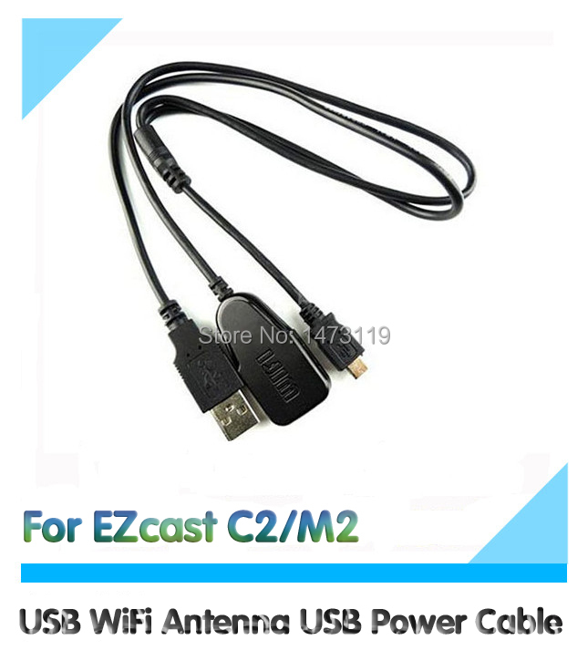 usb wifi antenna usb power cable wireless netcard two in. Black Bedroom Furniture Sets. Home Design Ideas
