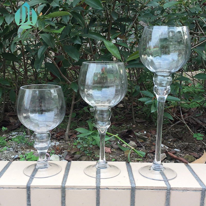 wholesale 3pcs/set glass candle holder on sale/ glass candle holder for decorative table lamp for home decor