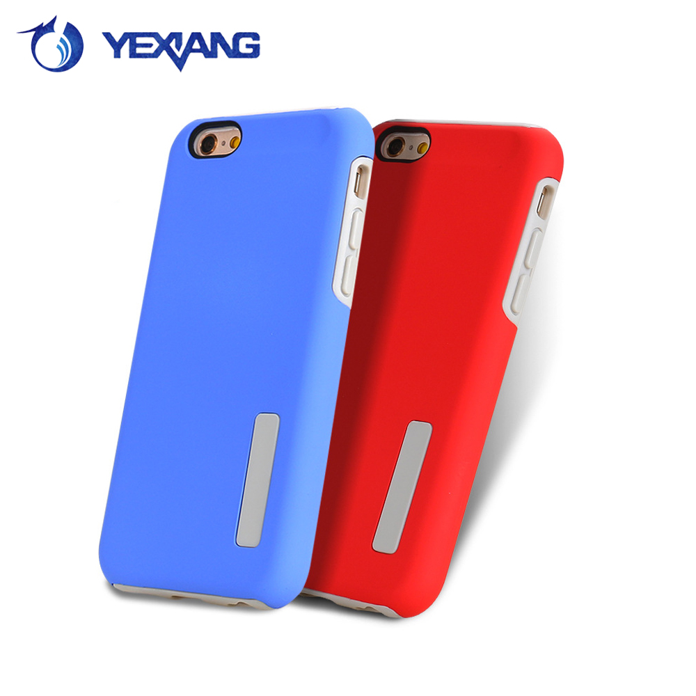 Wholesale mixed color matte pc tpu cellphone case for apple iphone 6