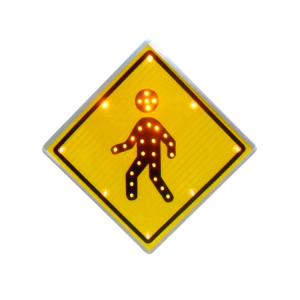 Magnetic Traffic Sign Safety Products Led Solar Caution Pedestrian Crossing Signs