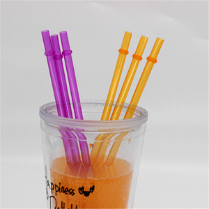 PP Plastic Type and Plastic Material solid color acrylic drinking straw