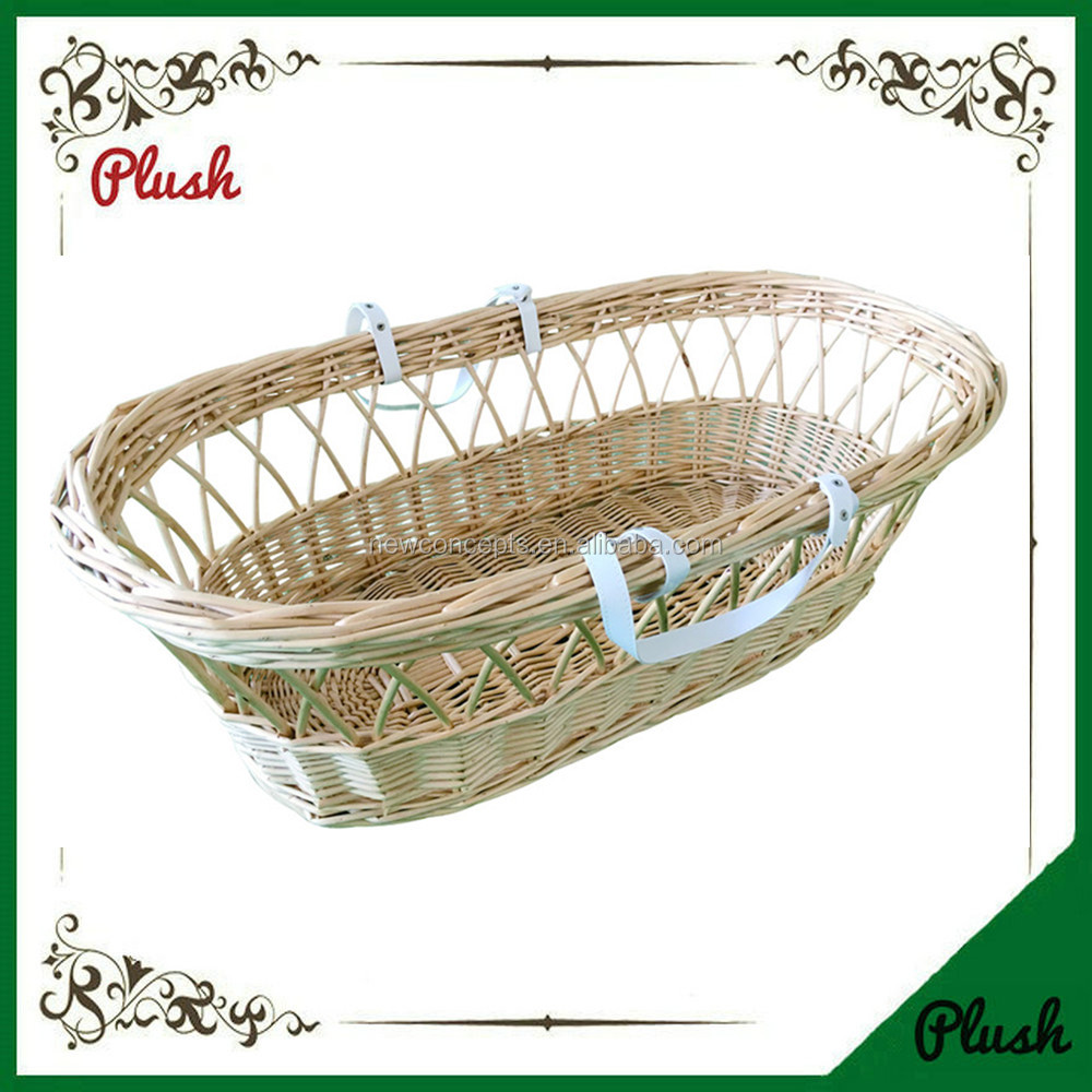 Hot sell portable baby bassinet hand woven wicker baby sleeping baskets