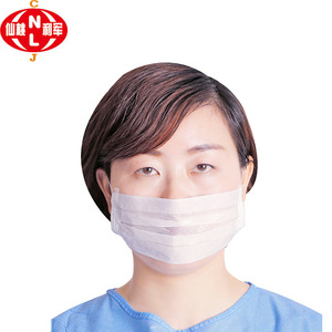 Chinese manufacture wholesale white paper face mask clear face mask for food service