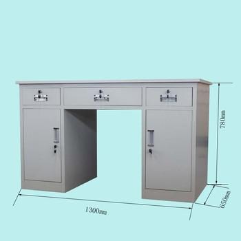 Ordinaire 2 Pedestal Steel School Teacher Locker Table Metal Office Work Desk
