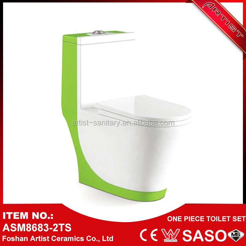 China Market Sanitary Ware Colored Dark Green Toilet For Bathroom