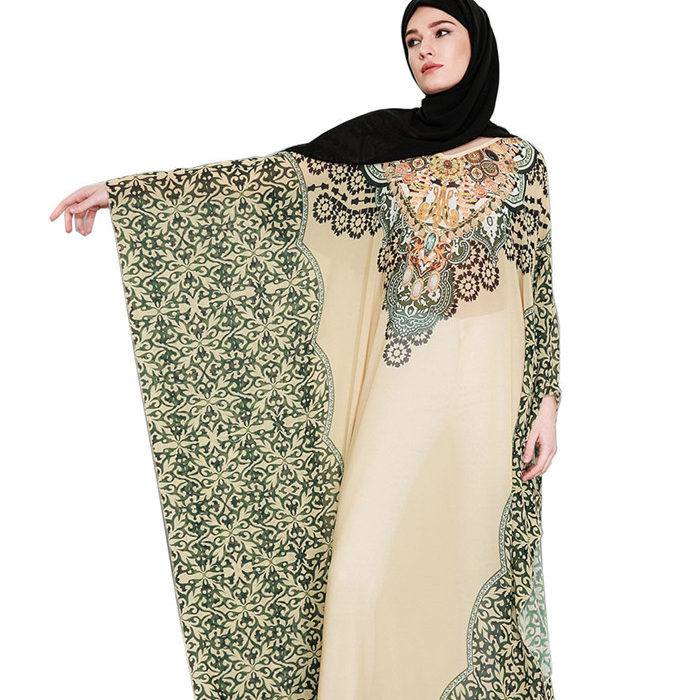 Alibaba.com / 2019 summer ethnic kaftan maxi dress thobe islamic butterfly abaya