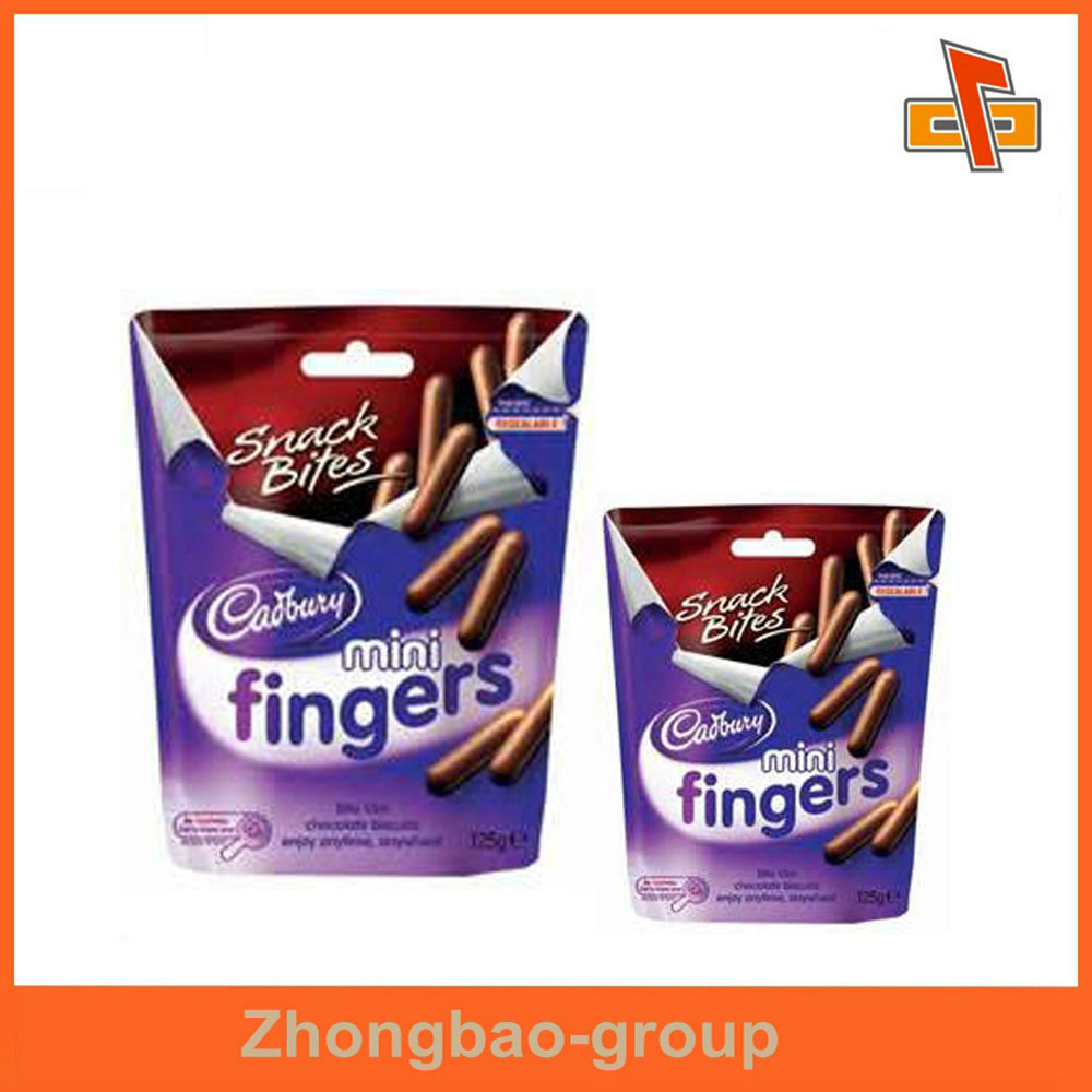 China manufacturers packaging materials three side seal custom printing food grade biscuit bag