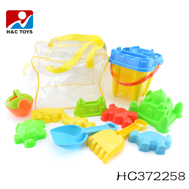 2017 Sand beach toys plastic beach bucket set for kids HC372258