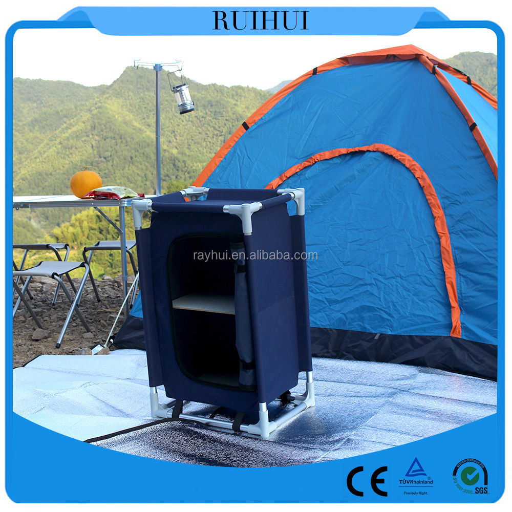 Portable Fabric Cabinet Multifunction folding Camping Cupboard