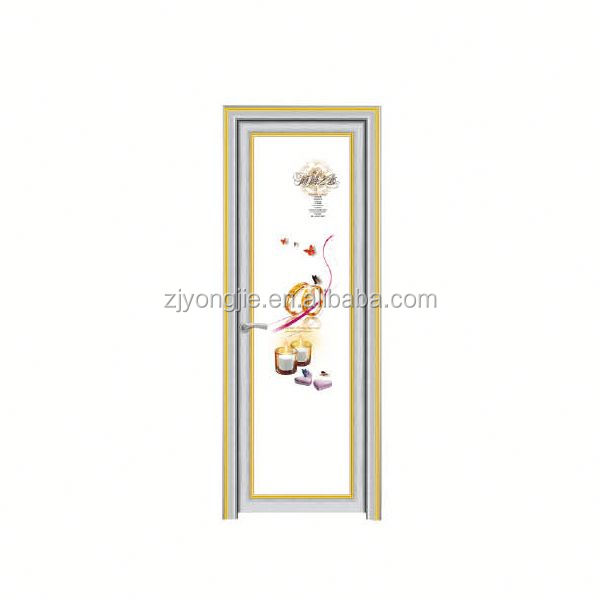 Zhejiang Yujie high quality pvc /wpc waterproof bathroom door design