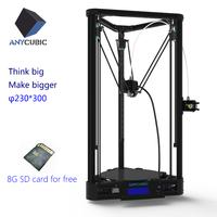 Kossel Plus 3D Printer Big Print Size 230*230*300 Delta DIY All Metal Effector Extruder