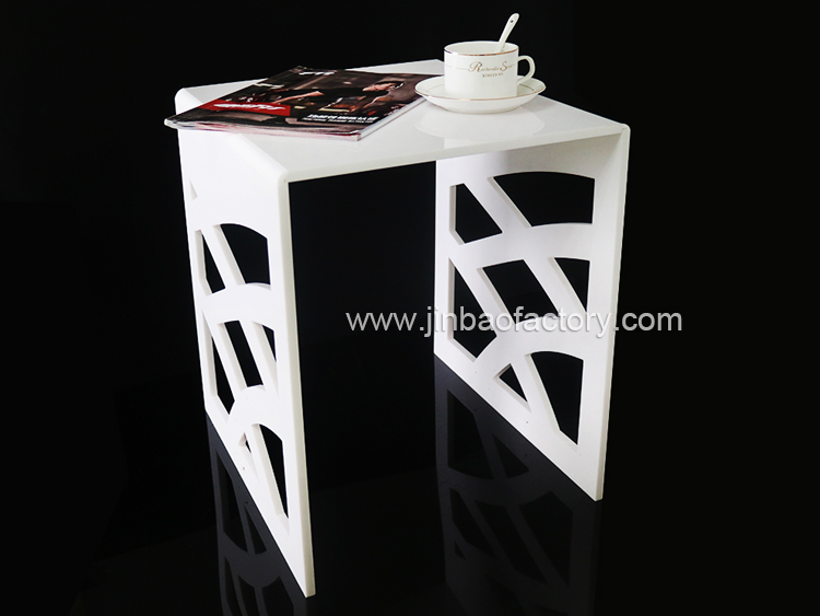JINBAO acrylic material crystal clear plastic acrylic coffee dining table