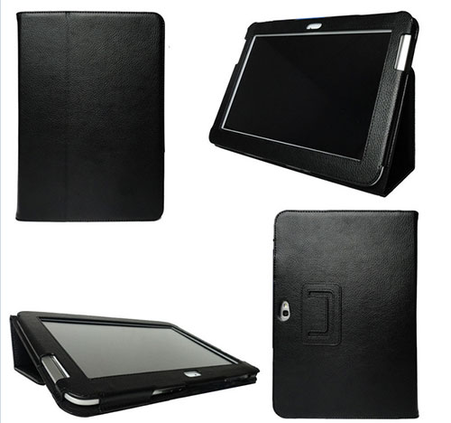 Litchi Pattern Leather Stand Flip Case For Samsung Galaxy Note 10.1 N8000