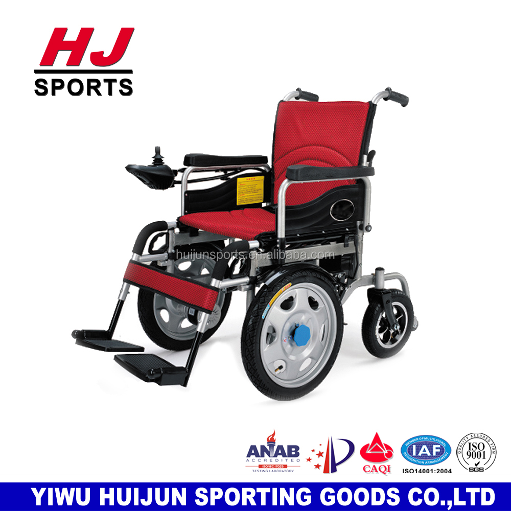 HJ-B596 Rehabilitation Equipment Battery Power Foldable Electric Wheel Chair with Joystick Controller/Electric Wheelchair Motor