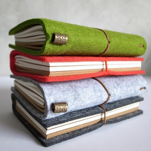 Customized Fancy Felt Book Cover Notebook Protection Covers