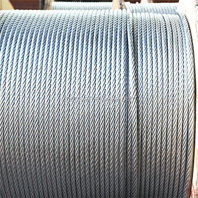 6x19 Fc Galvanized Steel Wire Ropes, 6x19 Fc Galvanized Steel Wire ...