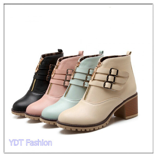 New Fashion Boots Women Boots Platforms High Heels Ankle Boots Shoes Big Size 34-43 Motorcycle Boots Free Shipping B36