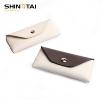 Wholesale Eyeglass Cases High Quality Designer Double Color Pu Sunglasses Box
