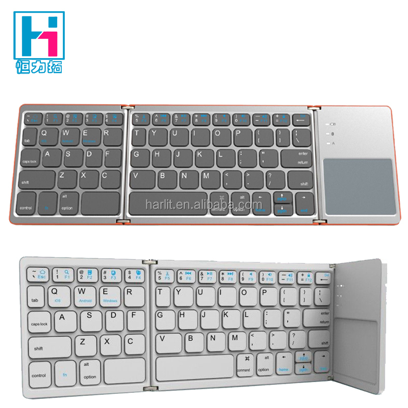 New Foldable Tablet Bluetooth Keyboard With Touchkpad Mouse Universal Compatible With IOS Win Android System Device