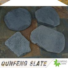 natural black tumbled stone outdoor landscaping slate stepping stones
