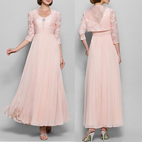 Bohemian style vintage mother of the bride lace dress beach wedding dresses