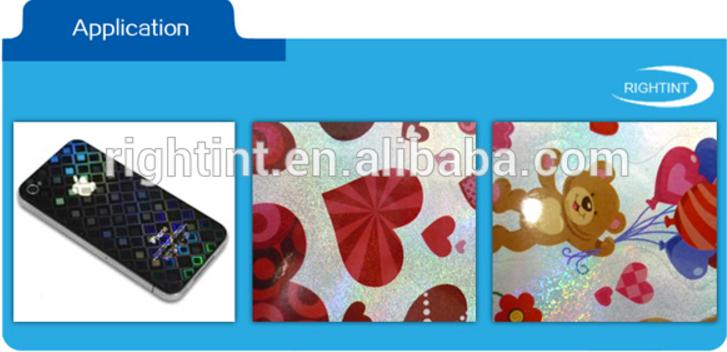 High quality blank A3 A4 size sheet or customized roll self adhesive hologram vinyl sticker paper