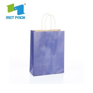 Custom Size Laminated Material Kraft Paper Bag With Eyelet