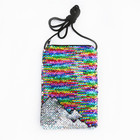 Crossbody Sequin Zipper Purse Bag Drawstring Mini Mobile Phone Coin Bag