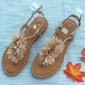 2461ae4ee1e449 2018 China wholesale latest designed holiday flat women shoes sandals
