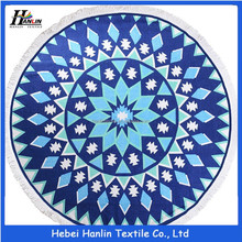 Roundie Tablecloth Blanket Wall Blue Roswear Mandala Tapestry Round Printed Beach Towel