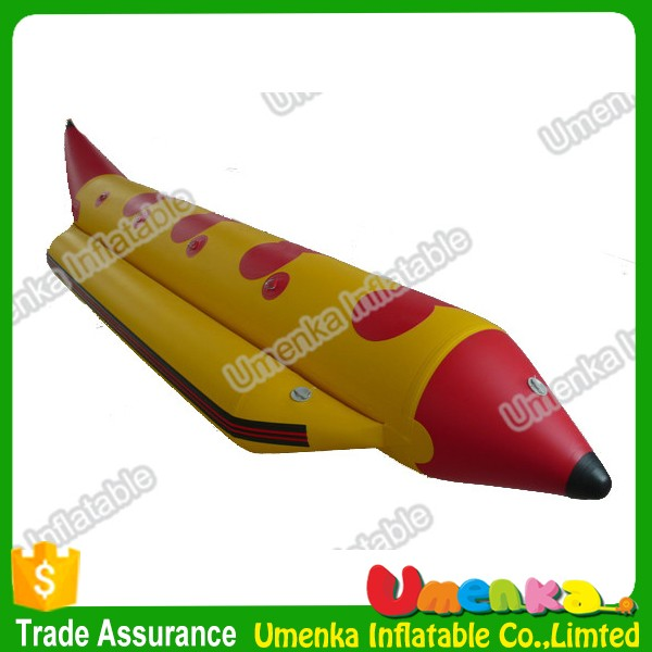 2016 Chinese best price inflatable rubber banana boat for salea