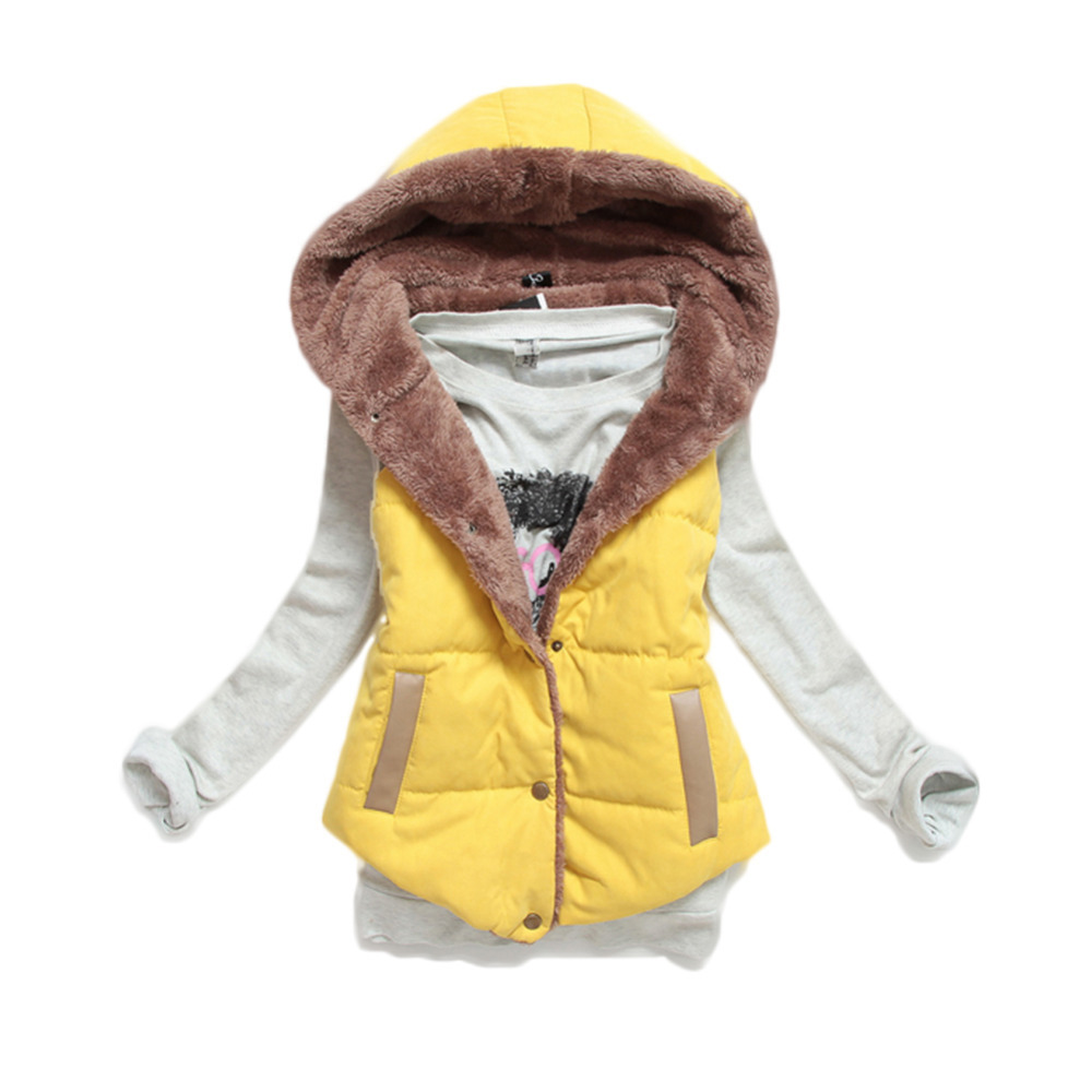 Осенью и зимой 2015 мода капюшоном толстые теплые вниз хлопка жилет дикие большие ярдов W8356