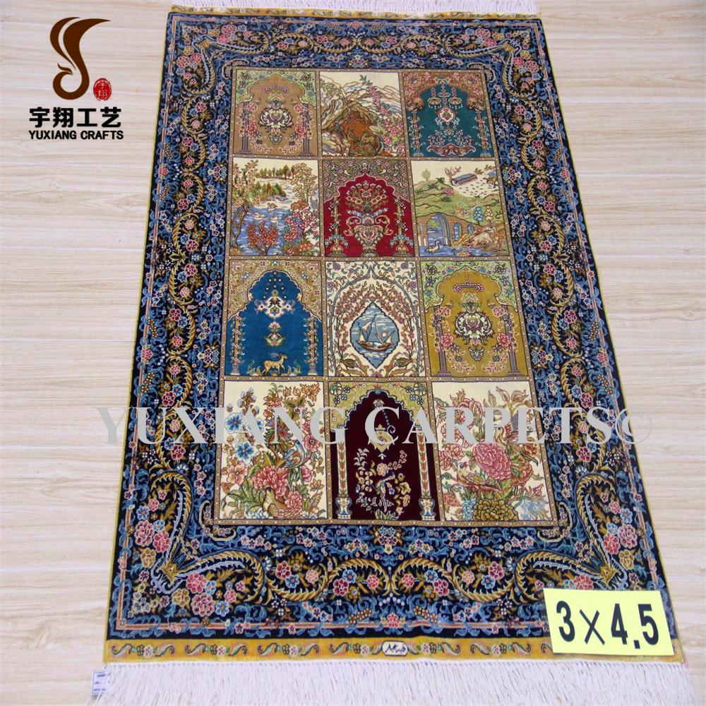 Yuxiang 3x4 5ft De Lujo Decorativo Alfombra Turca Oraci N