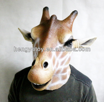 giraffe latex mask halloween costume accessory safari animal zoo child adult
