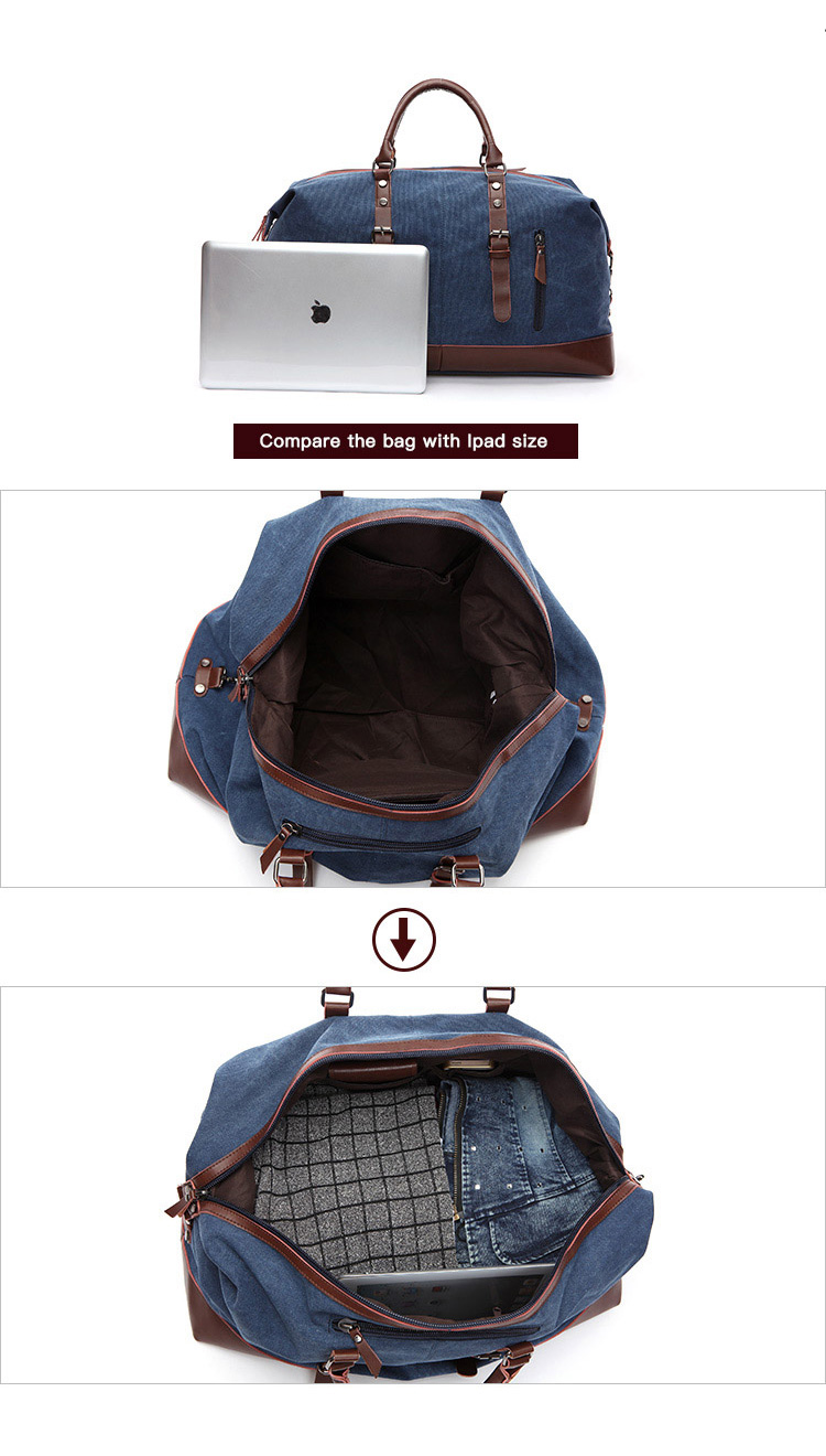 High quality private label leather vintage designer wholesale large gym weekend men travel sports gym canvas custom duffle bag