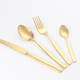 custom Gold Plated Cutlery Bulk Sale Restaurant Gloss Flatware dinnerware sets