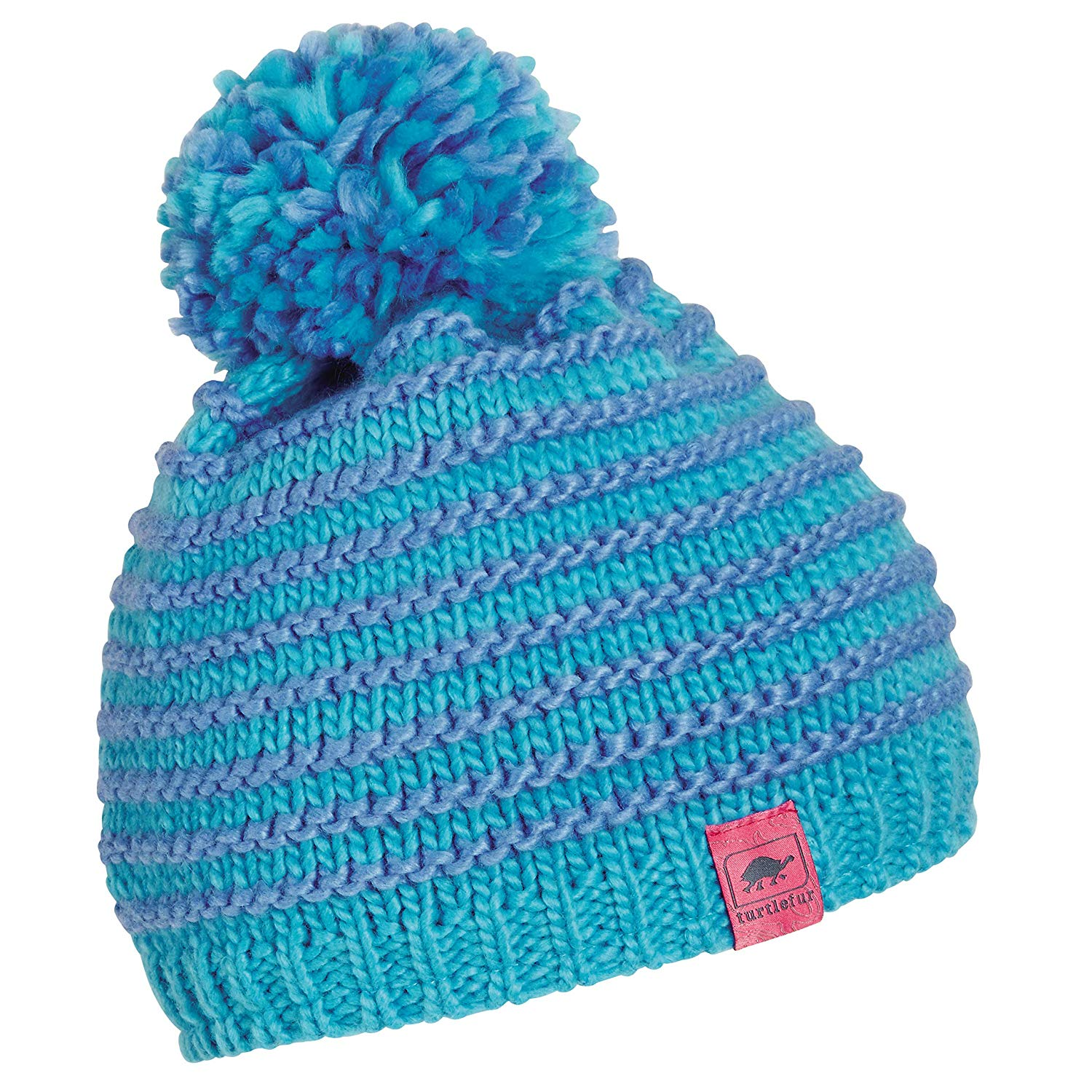 d5ace3d2e8f Get Quotations · Turtle Fur Marcy Girl s Fleece Lined Oversized Pom Hand  Knit Winter Hat